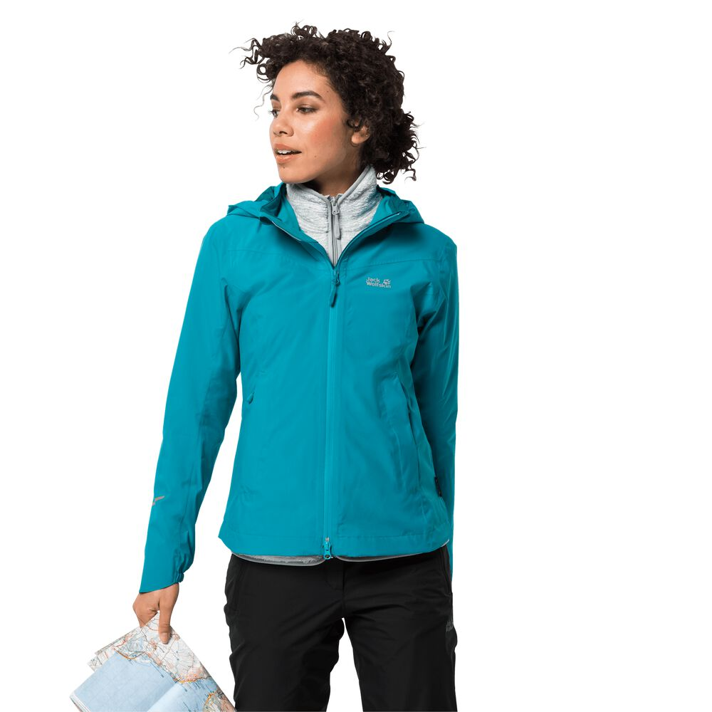 Veste hardshell femmes Atlas Tour Jacket Women M bleu dark cyan