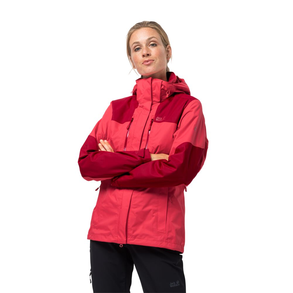 Veste hardshell femmes Jasper Jacket Women XL rouge tulip red
