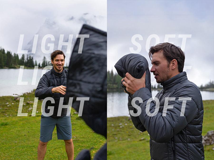 Homme attrape une veste